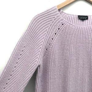 Topshop Sweaters - Topshop Pastel Purple Knit Sweater - Size 6